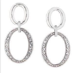 Chloe + Isabel Pave Links Post Drop Earrings